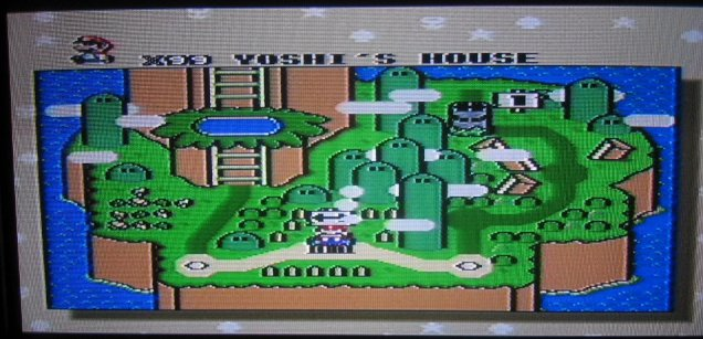 You begin at Yoshi's House with 99 lives