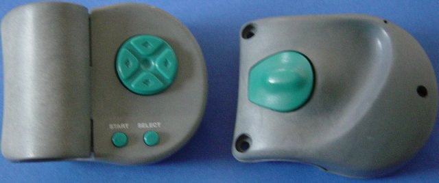 Images of the the controllers. These are non-standard snes controller and clamped on the handles of the exercise bike.