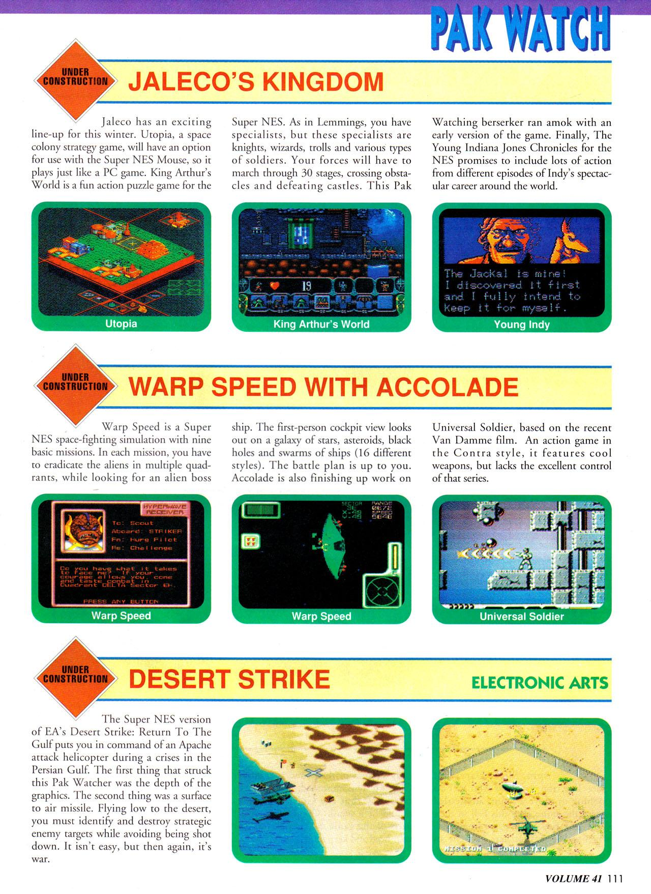 Preview in the October 1992 issue of Nintendo Power