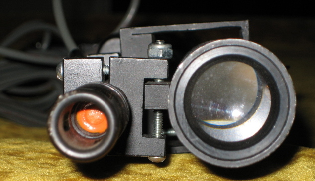 Closeup of the front of the scope