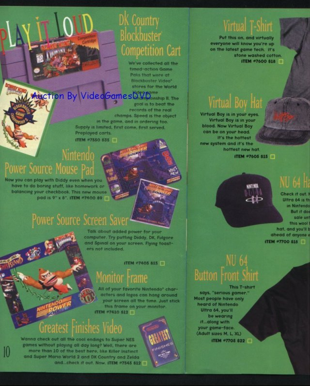scan of the advertisement in the Nintendo Super Power Catalog