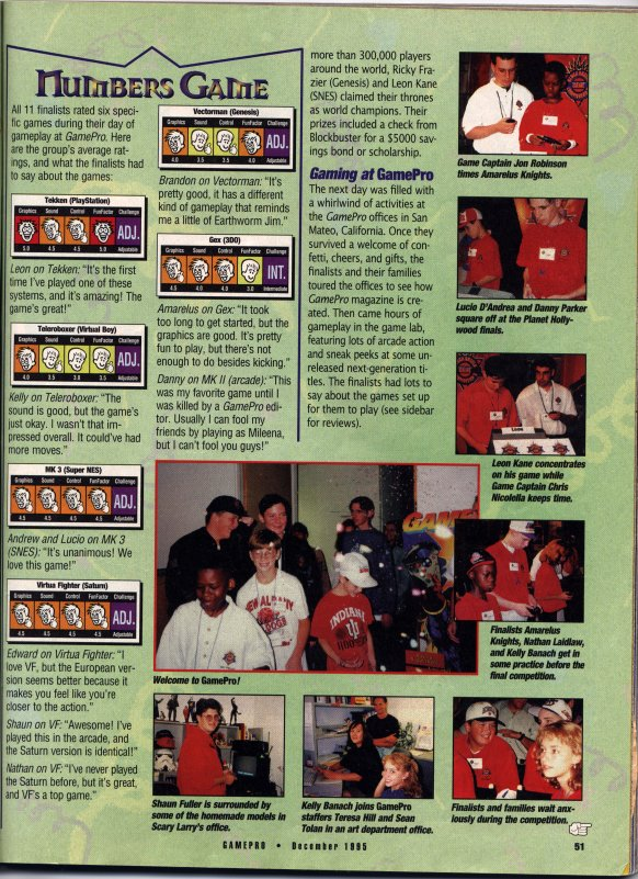 Gamepro article on the Blockbuster World Video Game Championship (Page 2)
