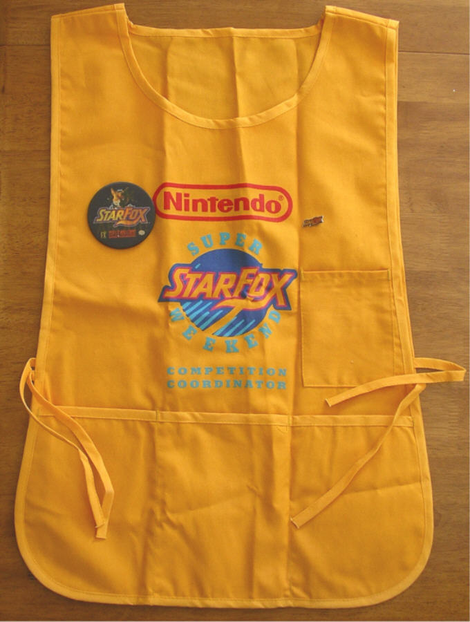 Apron used by employees working at the competition