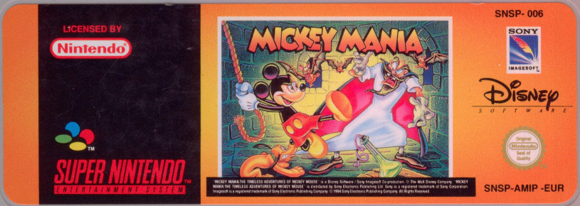 Snes Central: Mickey Mania: Timeless Adventures of Mickey