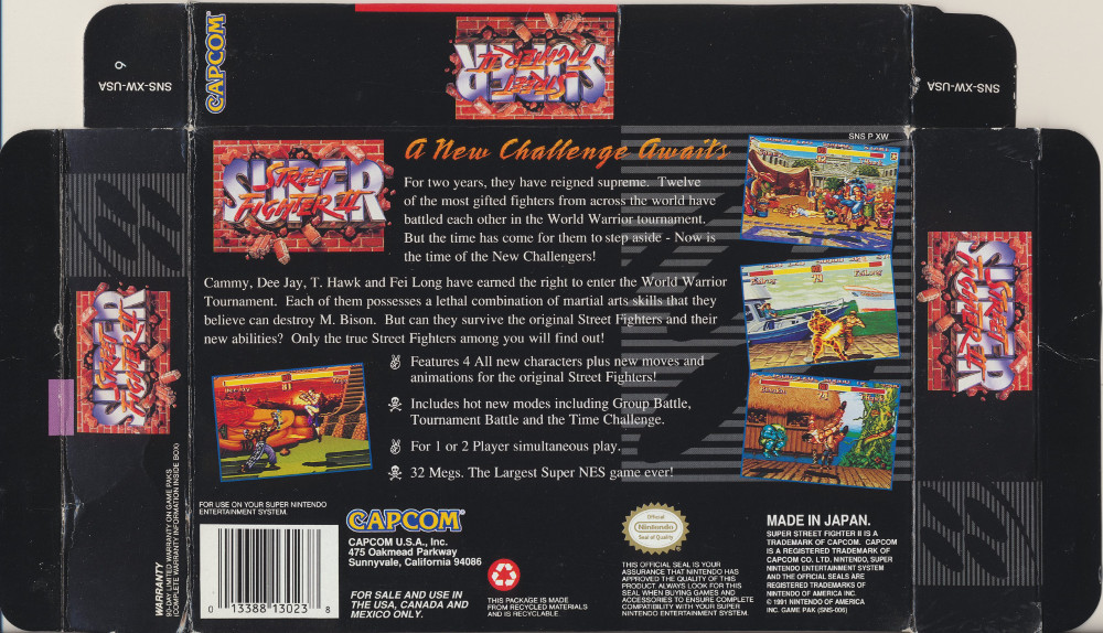 Snes Central Super Street Fighter Ii The New Challengers