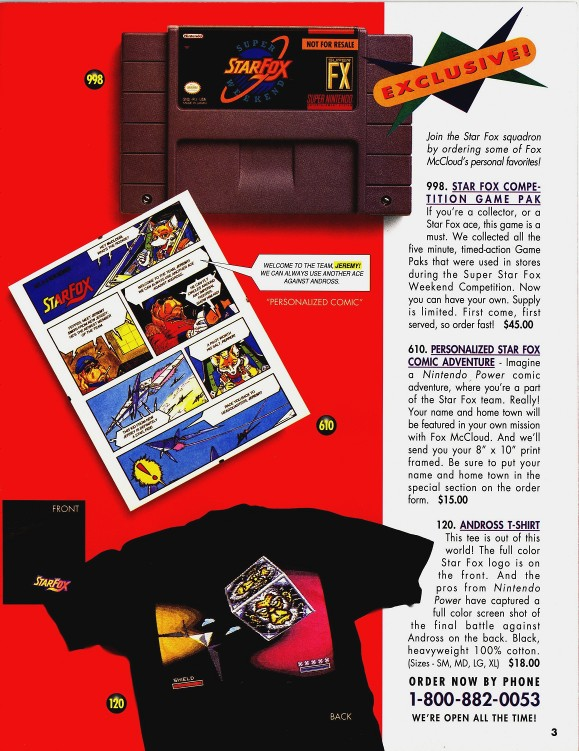 Page from the Super Power Supplies Catalog where the Super StarFox Weekend cart was sold